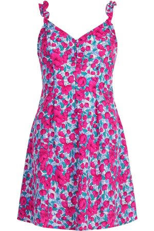 Boohoo Floral Print Ruffle Strap Swing Dress