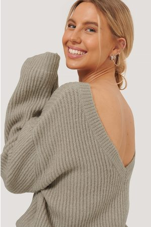NA-KD Dame Gensere - Oversized Deep Back Sweater