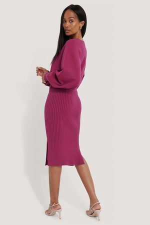 NA-KD Rib Knitted Skirt