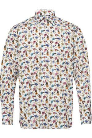 Eton Herre Langermede - Poplin- Contemporary Skjorte Business Beige
