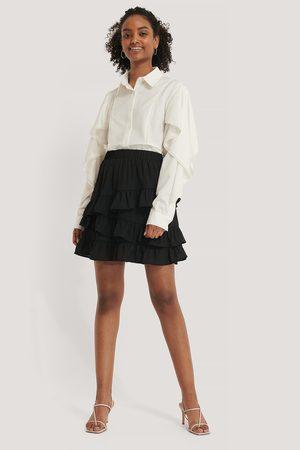 NA-KD Dame Miniskjørt - Flounce Panel Mini Skirt