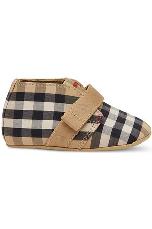 Burberry Sko - Vintage Check-print crib shoes