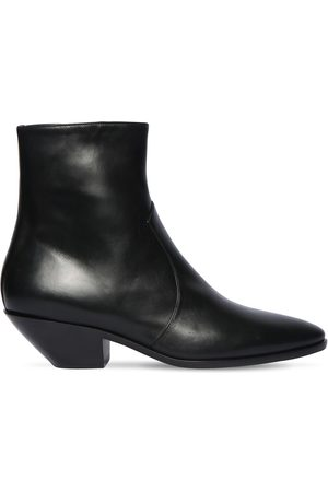 Saint Laurent Dame Cowboy boots - 45mm Western Leather Ankle Boots
