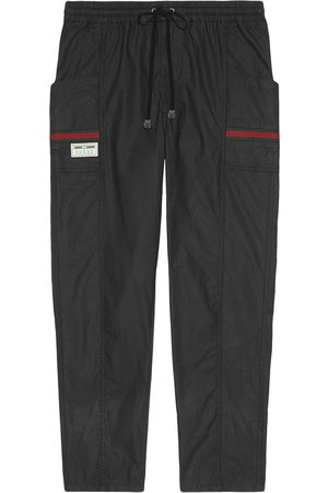 Gucci Herre Chinos - Web-embellished tapered track pants