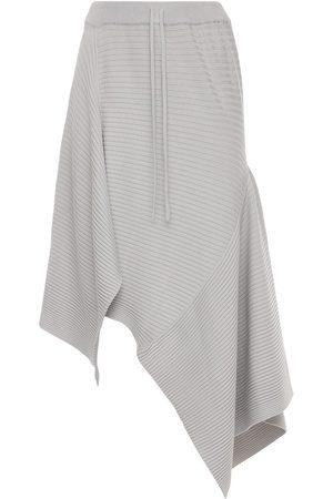 MARQUES'ALMEIDA Asymmetric Viscose Blend Knit Midi Skirt