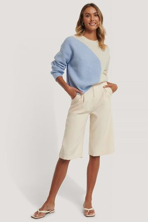 NA-KD Dame Gensere - Two Colored Knitted Sweater