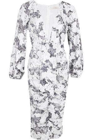 Boohoo Occasion Sequin Puff Sleeve Midi Dress