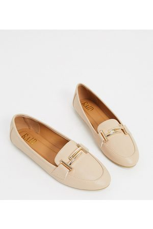 Raid Nidhi loafer with gold snaffle in -Neutral