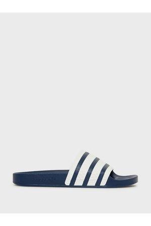 adidas Adilette Sandaler & flip flops Blue/White
