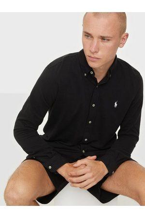 Polo Ralph Lauren Herre Langermede - Featherweight Long Sleeve Knit Skjorter Black