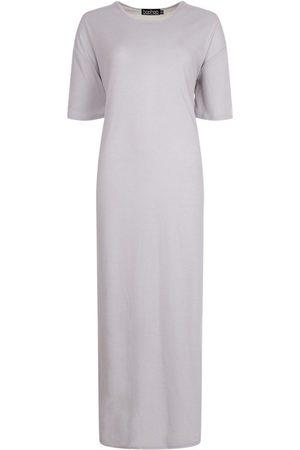 Boohoo Tall Rib Side Split Maxi Dress