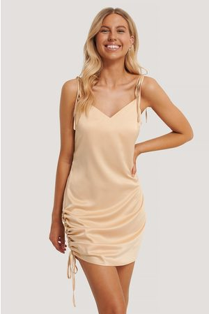 NA-KD Dame Bodycon kjoler - Satin Drawstring Mini Dress