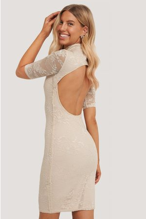 NA-KD Dame Festkjoler - Open Back Lace Dress