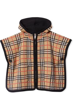 Burberry Vintage Check jacquard hooded poncho