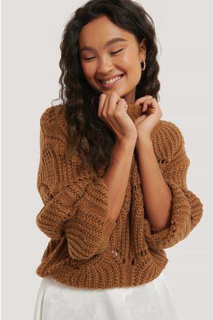 NA-KD Dame Strikkegensere - Wavy Pattern Knit Sweater