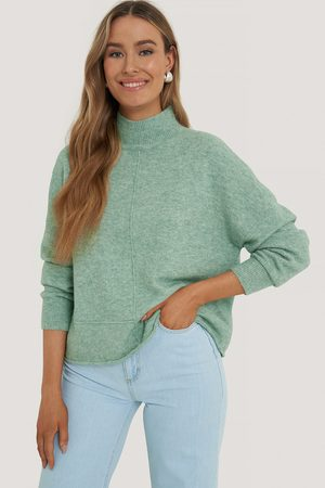 NA-KD High Neck Dropped Shoulder Knitted Sweater