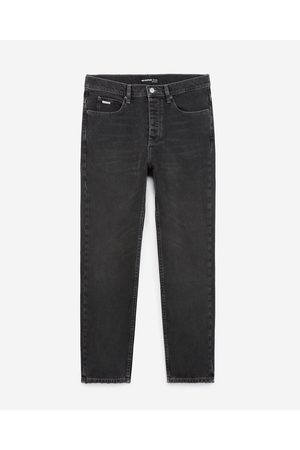The Kooples Straight raw black jeans in stretch cotton