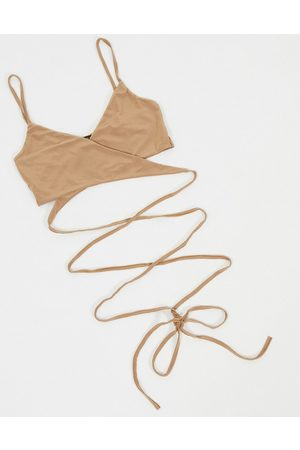I saw it first Strapped bralet in brown