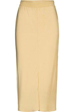 Calvin Klein Dame Maxiskjørt - Elasticated Bias Cut Midi Skirt Langt Skjørt