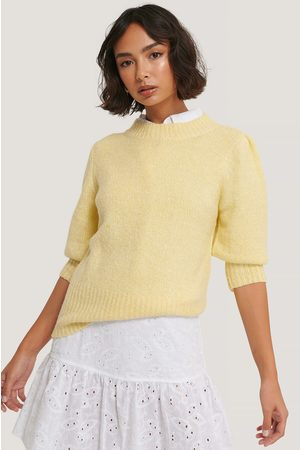 NA-KD Dame Gensere - Short Puff Sleeve Knitted Sweater