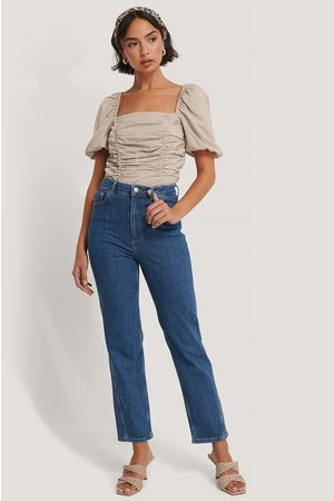 NA-KD Twisted Seam Detail Jeans