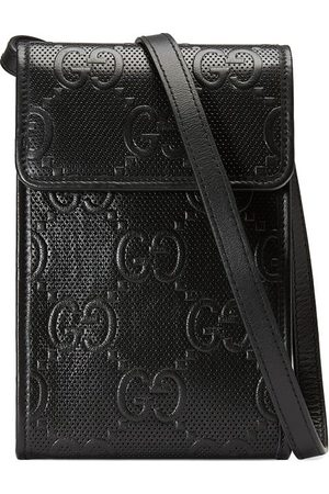 Gucci Herre Mobildeksler - GG Signature phone holder