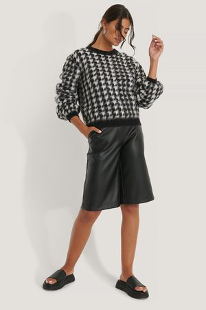 NA-KD Dame Gensere - Houndstooth Sweater