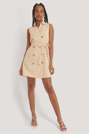 Trendyol Dame Korte kjoler - Belted Jacket Dress