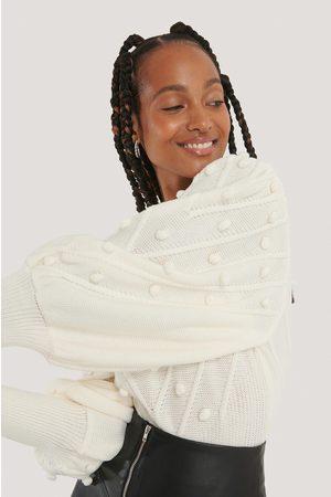 NA-KD Dame Strikkegensere - Bubble Detail Balloon Knitted Sweater