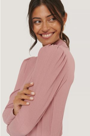 NA-KD Dame Langermede - High Neck Structured Jersey Top