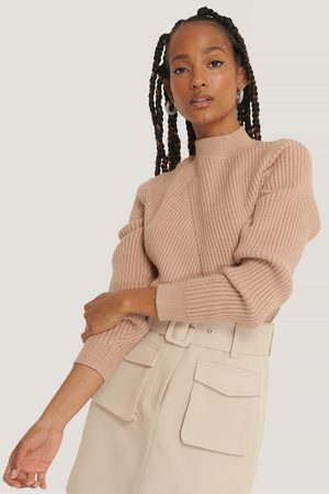 NA-KD Dame Strikkegensere - Diagonal Detail Knitted Sweater