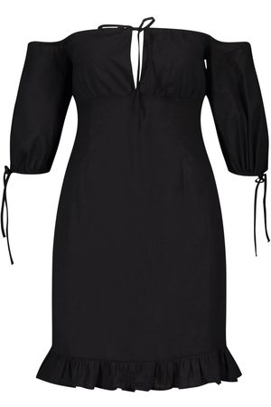 Boohoo Tall Off The Shoulder Puff Sleeve Mini Dress