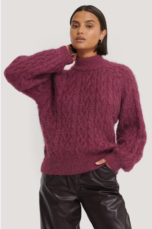 NA-KD Cable Hairy Knitted Sweater