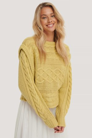 NA-KD Vest Cable Knitted Sweater