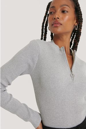 NA-KD Zip Detail Knitted Sweater