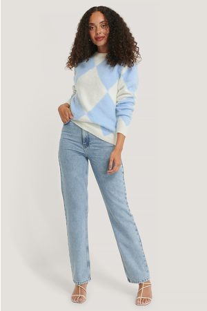 NA-KD Checked Brushed Knitted Sweater
