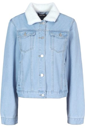 Boohoo Borg Collar Denim Jacket