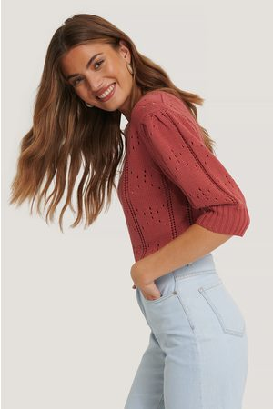 NA-KD Puff Short Sleeve Knitted Sweater