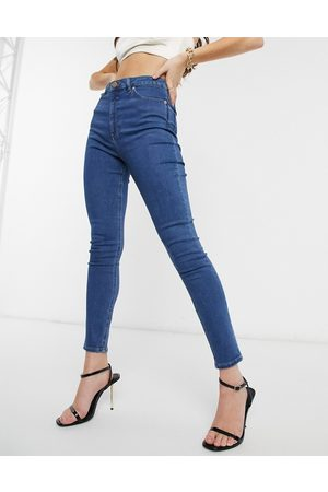 ASOS High rise ridley 'skinny' jeans in bright midwash blue