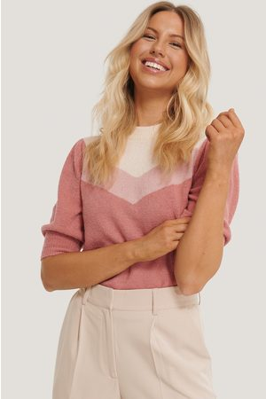 NA-KD Colorblock Knitted Top