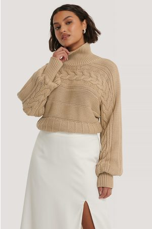 NA-KD High Neck Cable Detail Knitted Sweater