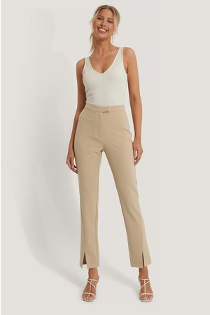 NA-KD Dame Chinos - Front Slit Suit Pants