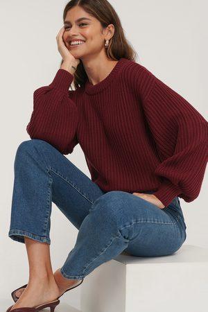 NA-KD Dame Gensere - Balloon Sleeve Round Neck Sweater