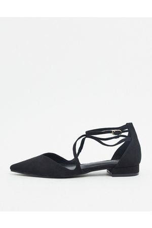 ASOS Leanna pointed ballet flats in black