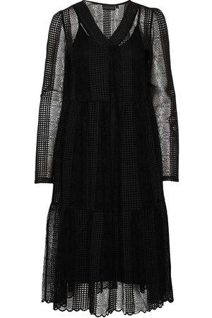 Karen by Simonsen Croquetkb Lace Dress Knelang Kjole Svart