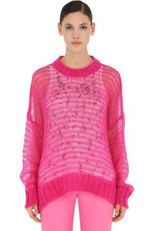 Nº21 Wool Blend Knit Sweater W/ Tank Top