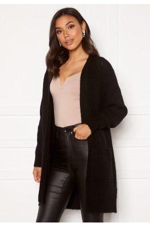 Selected Lulu LS Knit Long Cardigan Black L