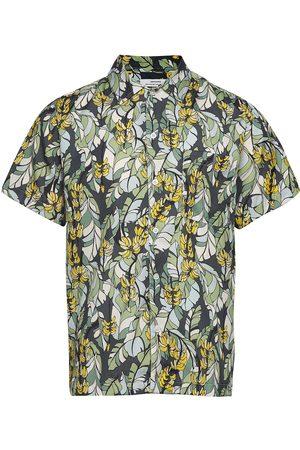 Dedicated Shirt Short Sleeve Marstrand Banana Leaves Kortermet Skjorte
