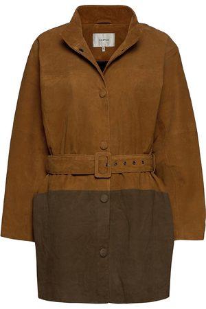 Gestuz Suiragz Oz Coat Ao20 Skinnjakke Skinnjakke Brun