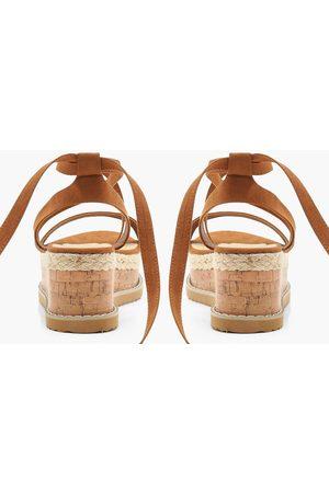 Boohoo Dame Platåsandaler - Flatform Espadrille Tie Up Sandals